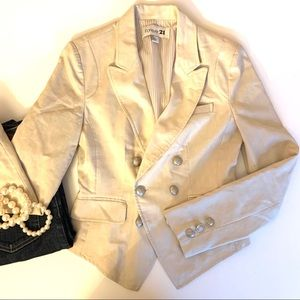 Forever 21 Fitted Double Breasted Blazer Small